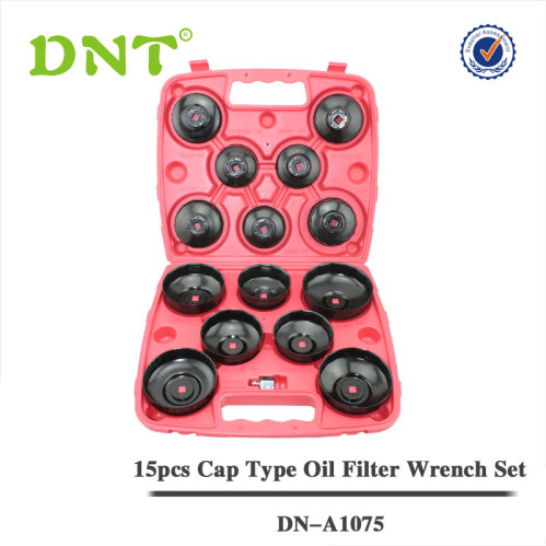 15Pc Cap Oil Filter Wrench Set | DNT Auto Tools