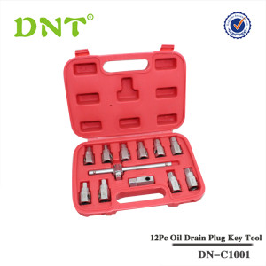 12Pc Oil Drain Plug Key Set