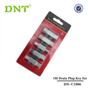 5Pc oil Drain Plug Key Set
