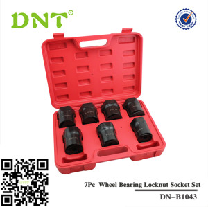 7Pc Truck Wheel Bearing Locknut Socket Set