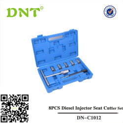 8PCS Diesel Injector Seat Cutter Set