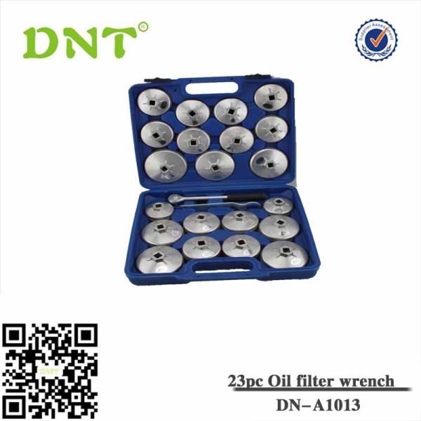 Juego 23 piezas de cazoletas para extraer filtros de aceite, aluminio diecast