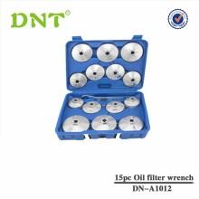 15pc filtro de óleo conjunto de ferramentas chave