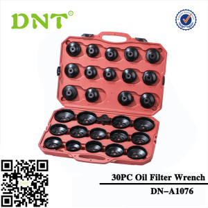 30Pc Cap Oil Filter Wrench Set