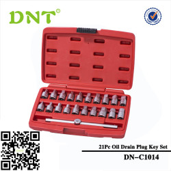 21Pc Oil Drain Plug Key Set
