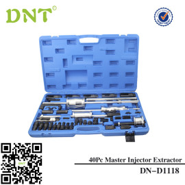 40pc Master Injector Extractor with Common Rail Adaptor Puller with Slide Hammer