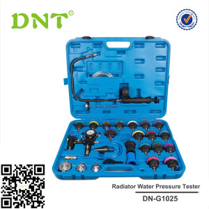 28pc Universal Radiator Pressure Tester Vacuum Type Cooling System Kit Leak Detector