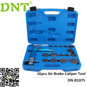 Air Brake Caliper Piston Compressor Master Tool Kit 16pc