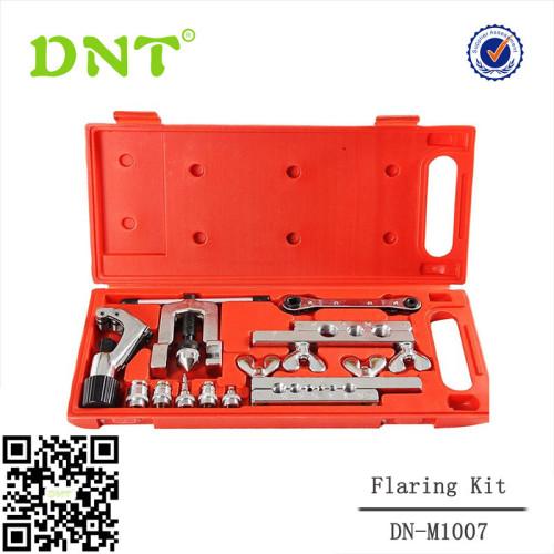 10 ШТ. Профессиональный комплект для двойной развальцовки с набором инструментов для обрезки труб