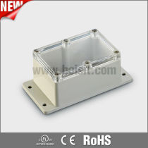 Armoured waterproof plastic junction box