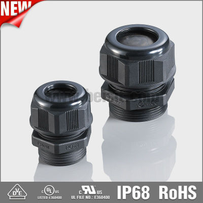 Waterproof Plastic Black Cable Gland Connectors