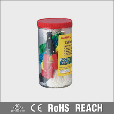 UL approved RoHS beaded nylon cable ties