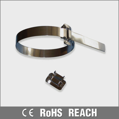 RoHS self locking stainless steel cable ties