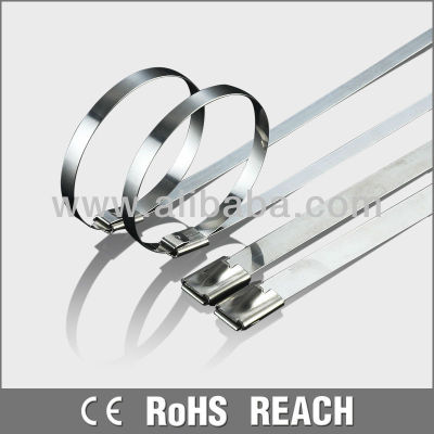 SS304 316 Plastic Stainless Steel Cable Ties