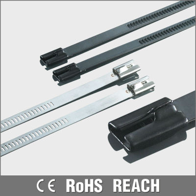 PVC coated self-lock stainless steel cable ties