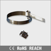 RoHS plastic covered stainless steel cable ties