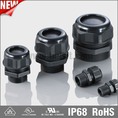UL, VDE, Waterproof, IP68 M20x1.5 Cable Glands