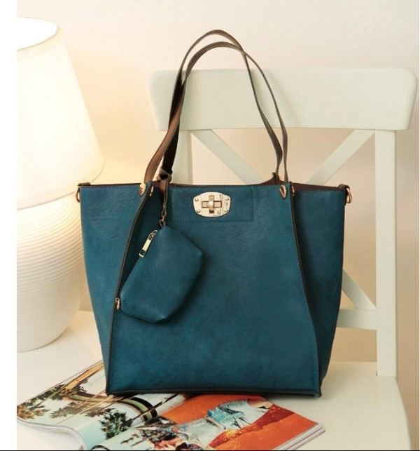 2015 New Fashion Ladies Composite bag Handbag Shoulder bag Wholesale No Moq Good Quality LY-B007