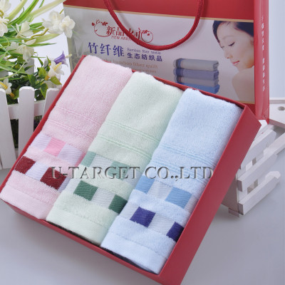 70% Bamboo fiber+30% cotton Pink Soft Beach Wash Untwisted Bamboo Fiber Towels Washcloths 32x76cm