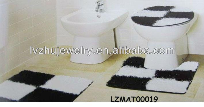 Shaggy bath mat set bath rug LZMAT00227