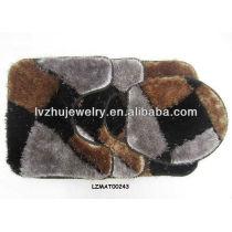 Shaggy bath mat set bath rug LZMAT00243
