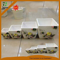 Decorative ceramic flower pots