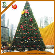 Outdoor big Christmas tree with decoration