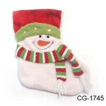 Christmas stocking gift with snowman