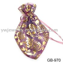 Golden stamping lace promotional gift bag