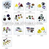 fashion beads zircon semi-prescious jewelry accessory