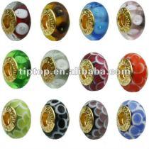 Fashion murano glass beads fit charm bracelets