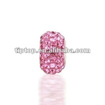 Bling jewelry 925 sterling silver pink crystal bead compatible