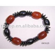 magnetic elastic hematite bracelet