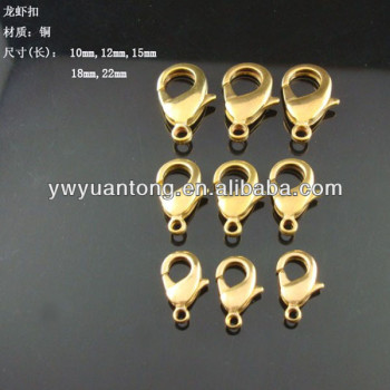 no plating color copper lobster 22mm 18mm