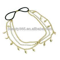 Stunning Gold Crystal Leaf Chains Hair Cuff Pin Headband Hair Accessories