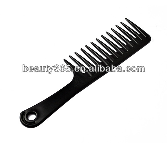 Hair Salon Lonic Black Extra Wide Tooth Handle Haircut Hair Comb