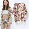 fashion chiffon three quarter sleeve blouses Boho Hippie Casual Kimono Blazer Jacket