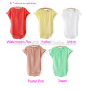 New Women's Casual Slim Front Hollow Out Chiffon Blouse Vintage O-neck Shirt Blouse Batwing Sleeve 5 Colors sv000441#