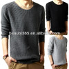 Men's Crewneck Pullover Sweater Knitwear Knitted Shirt Primer Shirt Tops