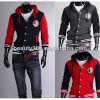 Winter stylish wholesale hoodies for men Long Sleeve Button Decoration Slim Coat Jacket