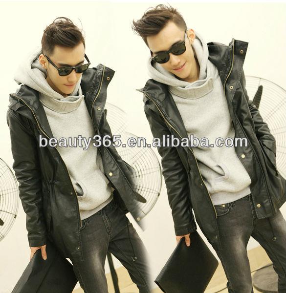 Men's New Stylish Fashion Slim Hooded Coat Thick Hoodie Sweatshirt Coat