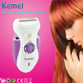 KEMEI lady epilator, shaver and lady clipper 3 in 1 set(km2370)