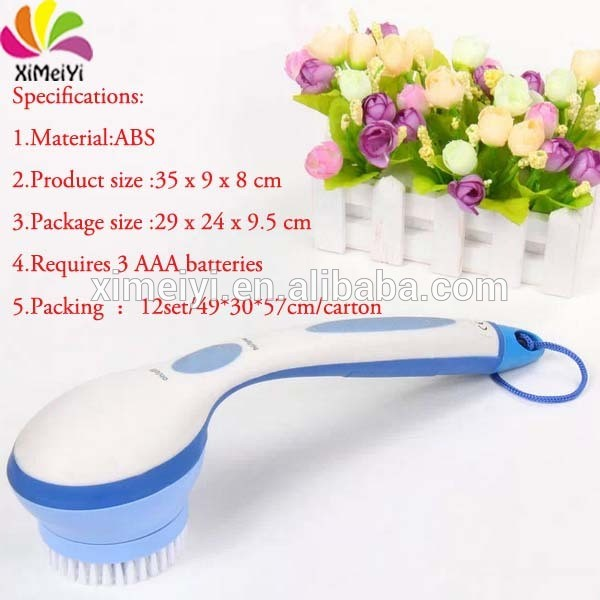 electric massage shower head brush for body cleaning
