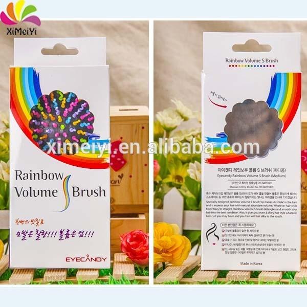 Massage rainbow hair comb/plastic comb