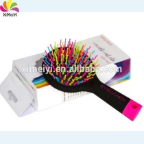 Colorful anti-static comfortable rainbow hairbrush