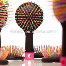 back mirror rainbow comb/hair brush