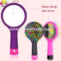 rainbow plastic comb/rainbow comb with mirror