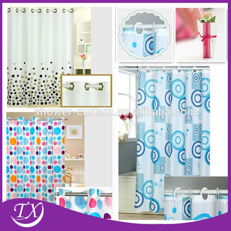 Polyester Fabric Hookless Shower Curtain Buy Hookless Shower Curtain Product On