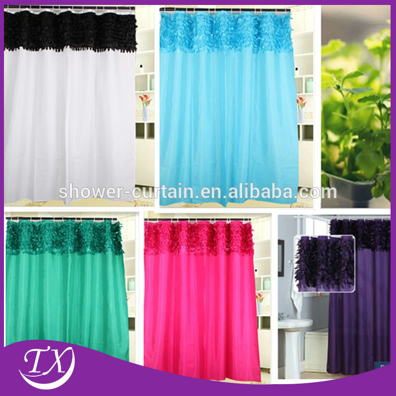 100 Polyester Material Shower Curtain