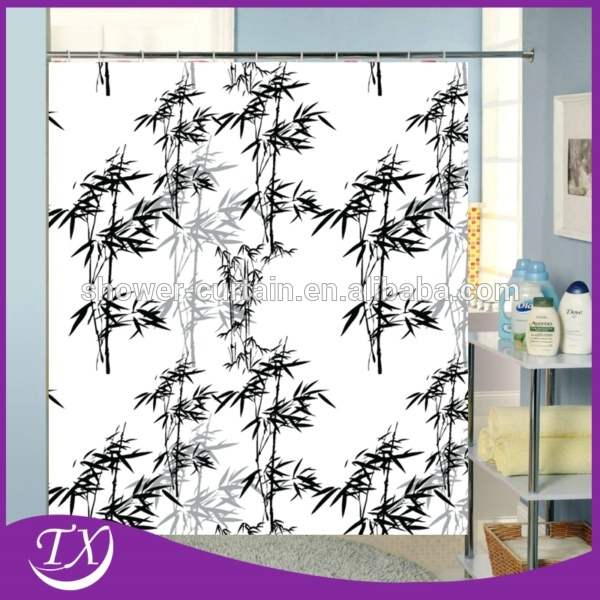 Bamboo good quality nice printing polyester fabric curtain for Y h furniture trading